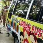 Bupati Lampung Tengah Musa Ahmad Melaunching Mobil Pintar Limbah Pustaka di Dinas Lingkungan Hidup