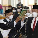 Wakil Ketua I DPRD Sisa masa jabatan 2019-2024  Basuki Secara Resmi Di Lantik